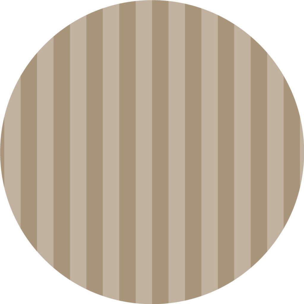 Bajoplato personalizado a rayas beige alternando tonalidades. Redondo